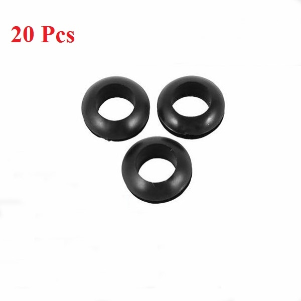 20pcs Rubber Wiring Grommets Ring Cable Protector 5/6/7/8mm Inner Dia