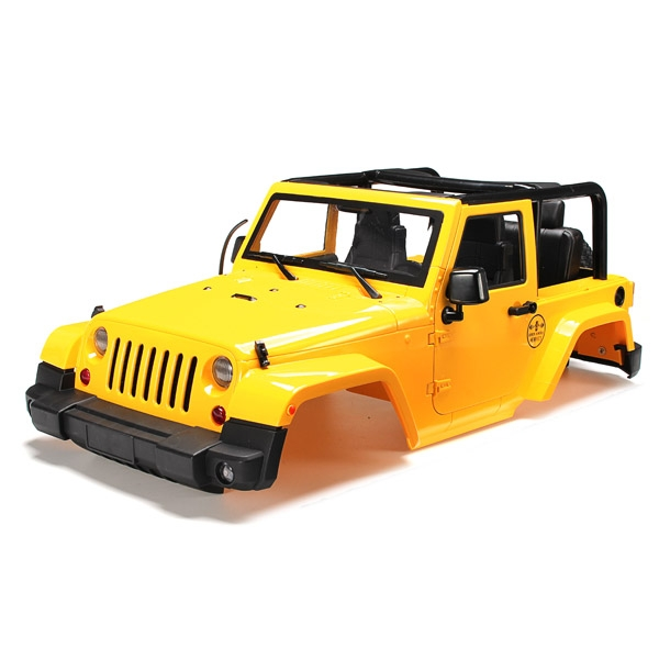 1/10 RC Truck Hard Body Shell Canopy Jeep Wrangler Rubicon Topless For SCX10/D90