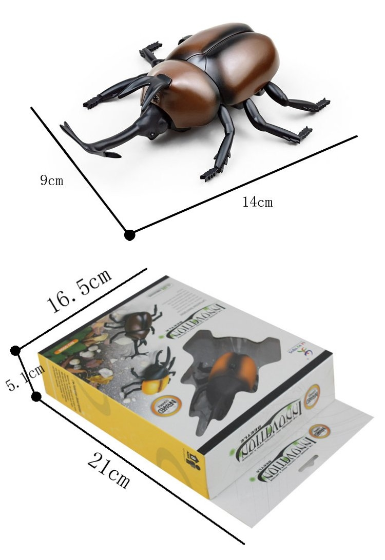 1 Pcs Infrared Rechargeable Remote Control Simulation Beetle RC Animal Toy 9996