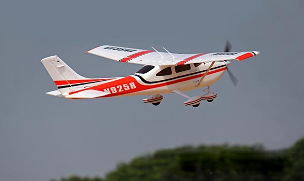 Sonicmodell Cessna 182 V2 1410MM Wingspan Red With Flap LED  PNP