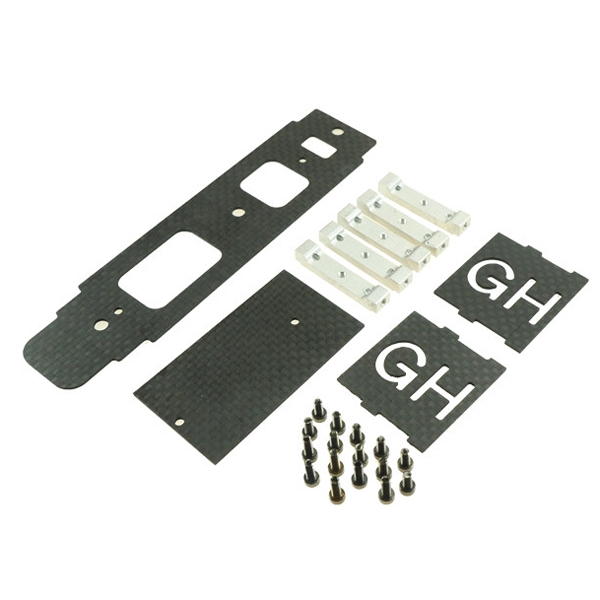 Global Eagle 480N RC Helicopter Part Carbon Fiber Mount Tray Assembly