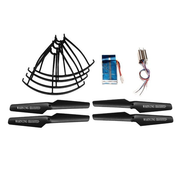 Syma X5 X5C RC Quadcopter Spare Parts Black Propellers+Protector+Motor+600mah Battery