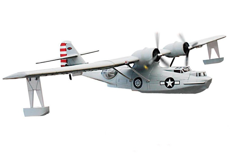 Dynam PBY Catalina Grey V2 1470mm 57 Wingspan RC Airplane PNP DY8943""