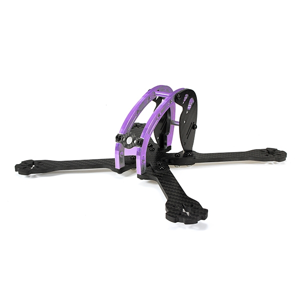 Realacc D215 215mm Purple Edition Carbon Fiber 4mm Arm FPV Racing X Frame w/ 5V & 12V PDB