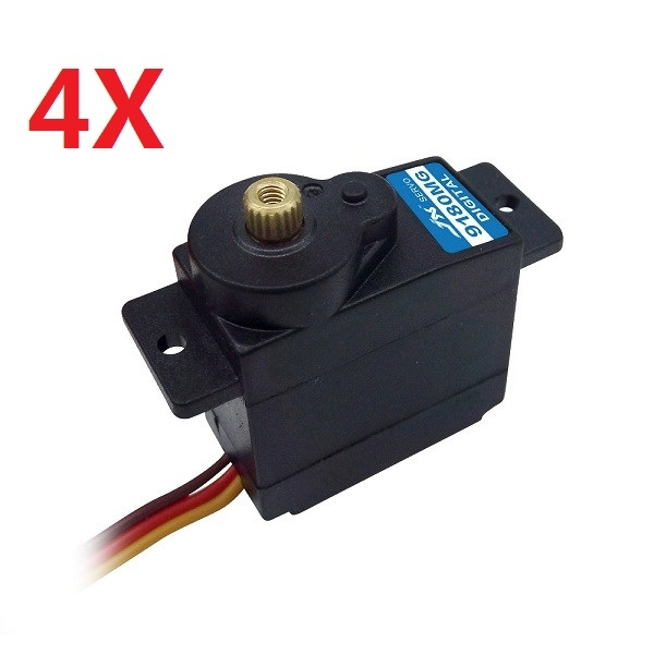 4X JX servo PDI-9180MG 180 Degree Metal Gear Analog Servo 2.0kg 0.12sec 12g