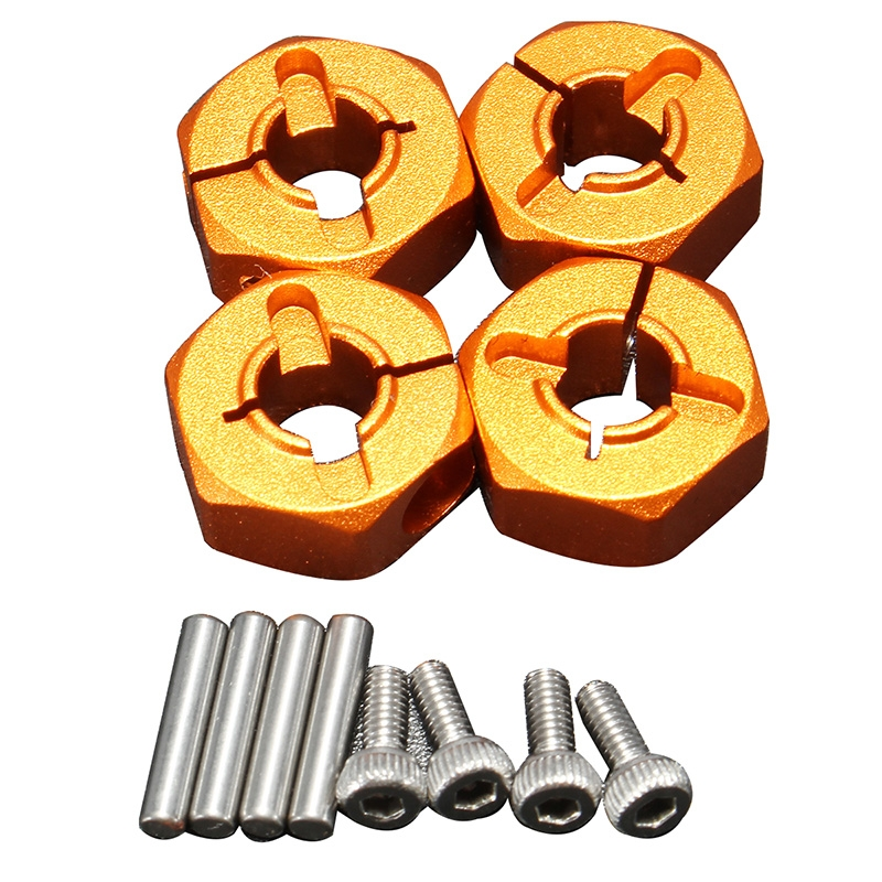1/10 Scale 12x6mm Orange Hexagonal Aluminum Alloy Anti-loosening Combination RC Car Parts
