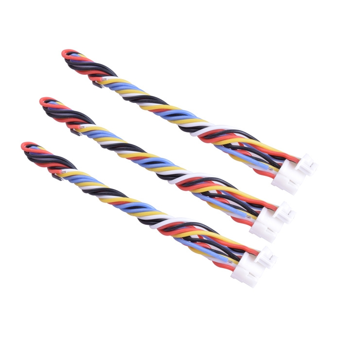 3PCS 5 Pin Silicone Cable for TBS UNIFY PRO HV/Race RunCam Swift 2/Owl 2