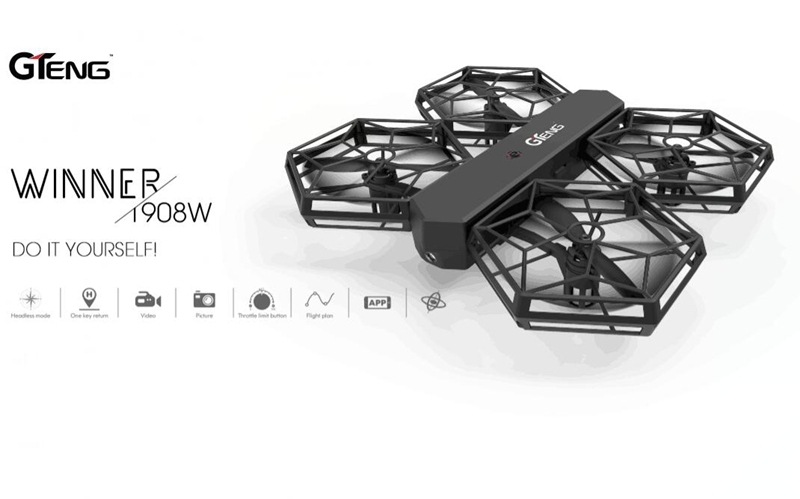 GTENG T908W DIY Assembly Blocks WIFI FPV With 0.3MP HD Camera Aititude Mode RC Quadcopter RTF