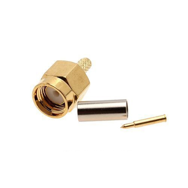 2PCS SMA Male 50-1.5 RF connector For RG174 RG316 LMR100 Cable
