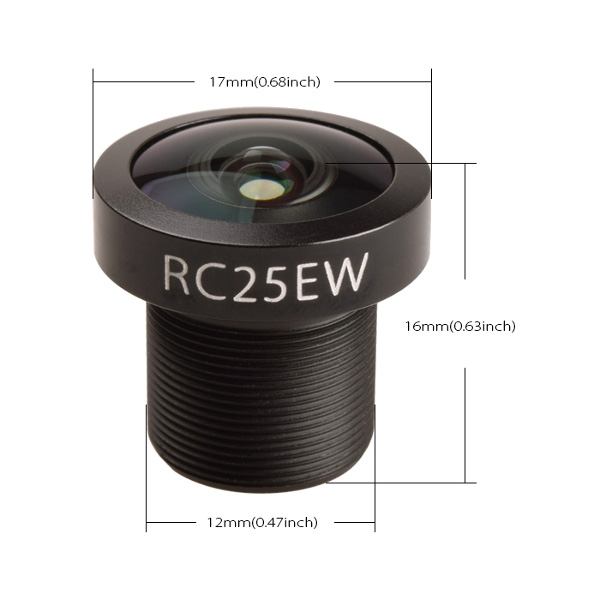 FOV 130 Degree 1/1.8 2.5mm Wide Angle FPV Camera Lens for RunCam Eagle2 16:9""