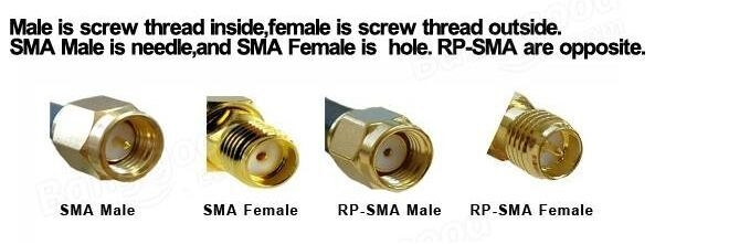 2PCS RP-SMA Male to RP-SMA Male RF Connector Adapter RP-SMA-JJ