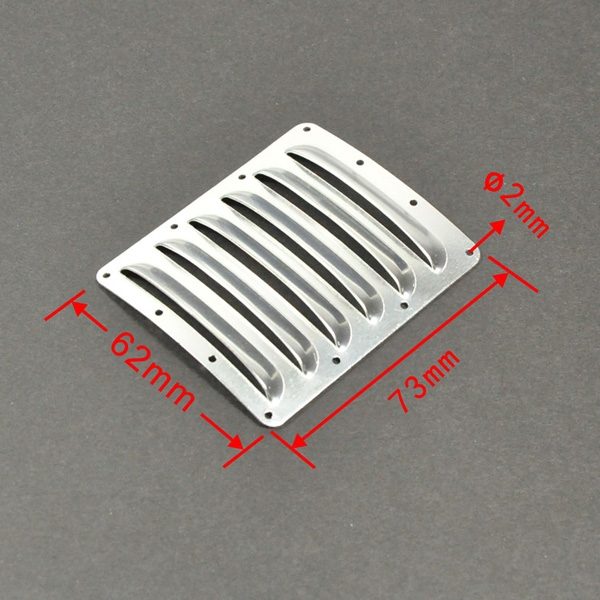 1pc Silver Aluminium Cooling Louver Fin for RC Aircraft Cowls 73mm*62mm*0.5mm