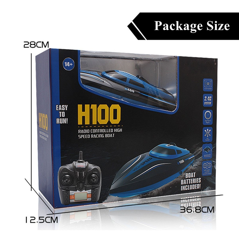 H100 2.4G 4CH 4 Channel 180 Flip High Speed Electric RC Boat Toy Water Cooling
