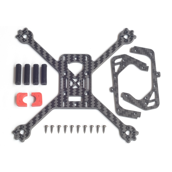 FlyFox FROG 135mm Wheelbase X Type 3mm Arm Frame Kit for RC Drone FPV Racing 19.2g