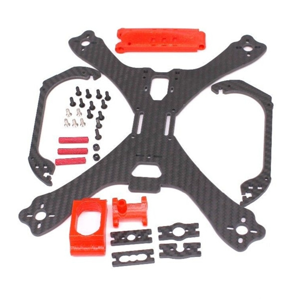 PUDA C240 240mm 3.5mm Arm 3K Carbon Fiber Stretch-X Racing Frame Kit with 3D Printing Camera Mount
