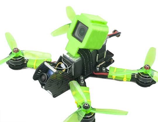 RJX Mini Camera Mount TPU Protective Case 3D Printed for FOXEER BOX 4K FPV RC Racing Drone Black Green