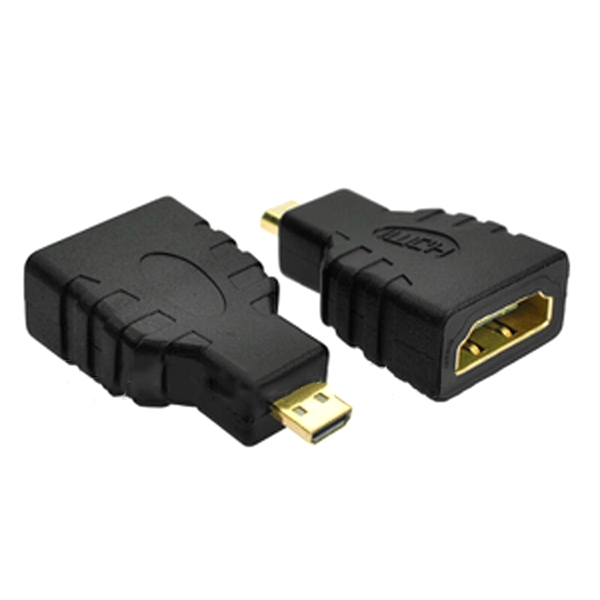 5PCS HD Port 1.4 Micro HD Port-D Male to Standard HD Port-A Female Connector Adapter Support 3D WiFi