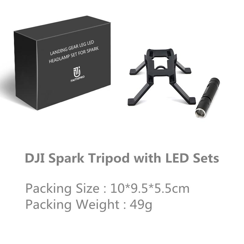 Tripod LED Light Increase Landing Skid Heighten Tripod With LED Night Light For DJI Spark RC Drone