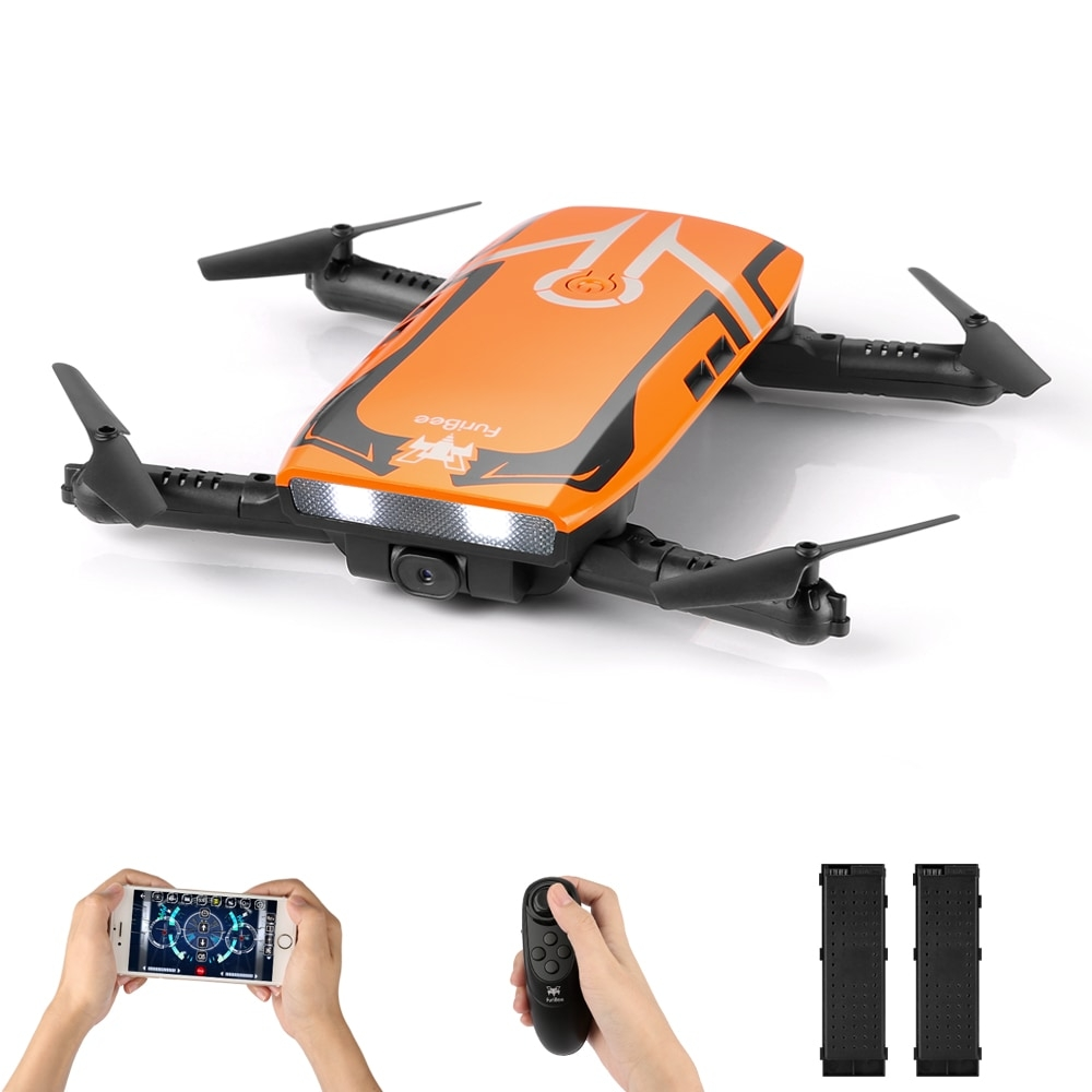 FuriBee H818 6 Axis Gyro Remote Control Quadcopter 2.0MP WiFi Camera 2 Batteries