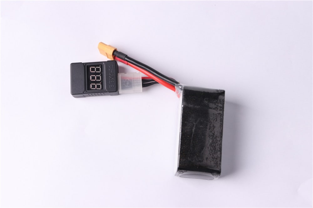 Lamsam 1-8S Low Voltage Buzzer Alarm 1-8S Lipo/Li-ion/Fe Battery Voltage 2IN1 Tester Vistapower For RC Quadcopter BB Rin