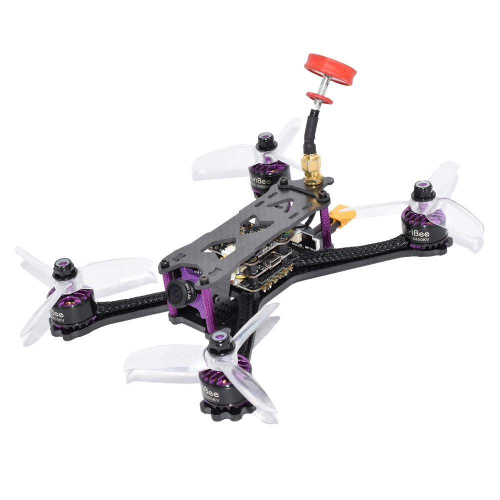 FuriBee Geniuser 160mm FPV Racing Drone with F4 FC 3-4S BLHeli_S 28A ESC