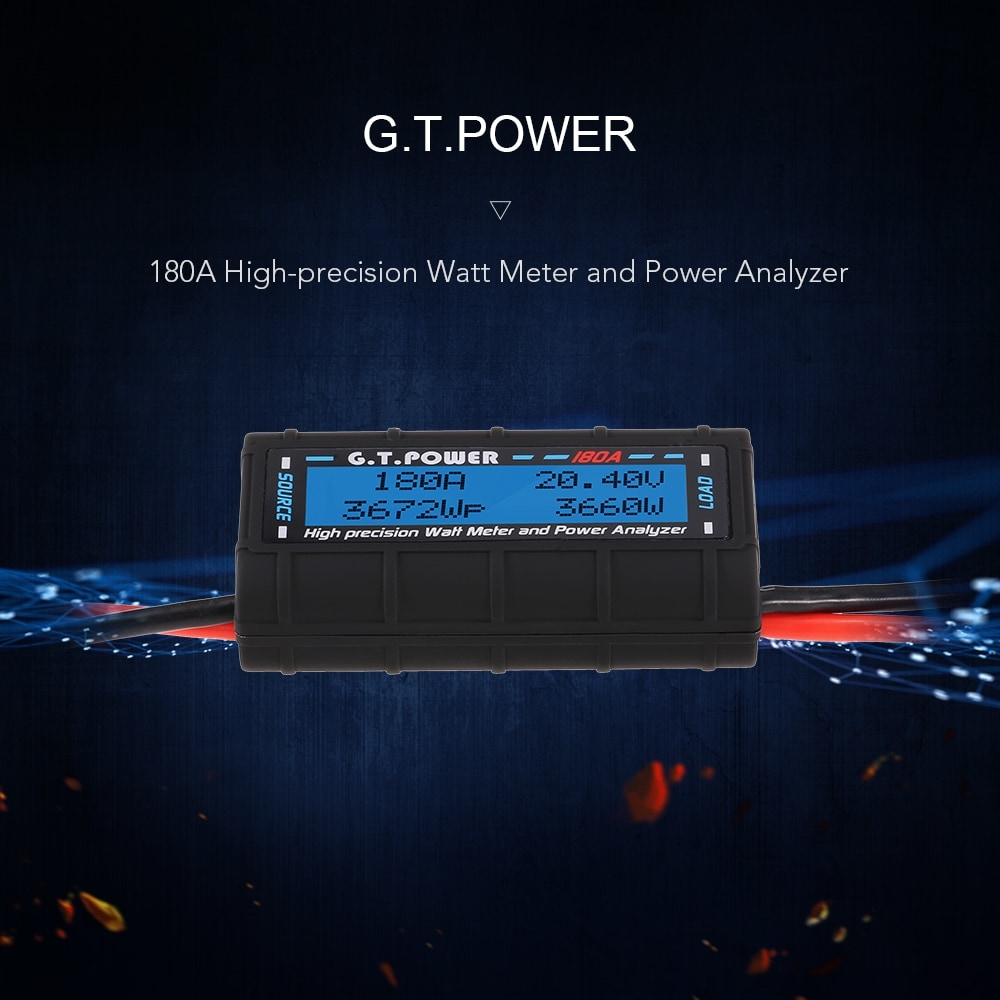 G.T. Power 180A Watt Meter Power Analyzer