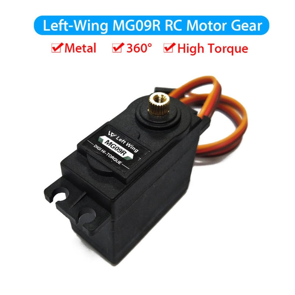 1PCS MG09R 360 degree High Torque Metal Gear RC Servo Motor Helicopter Car Boat 13KG