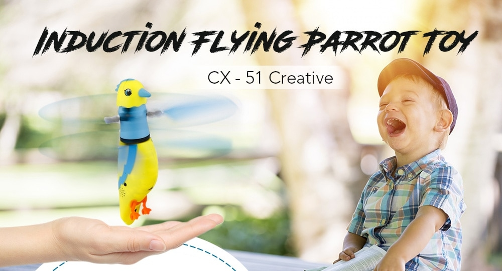 CX - 51 Creative Induction Flying Parrot Toy