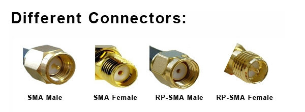 5PCS SMA Male to RP-SMA Male Adaptor RF Connector Straight for FPV Antenna