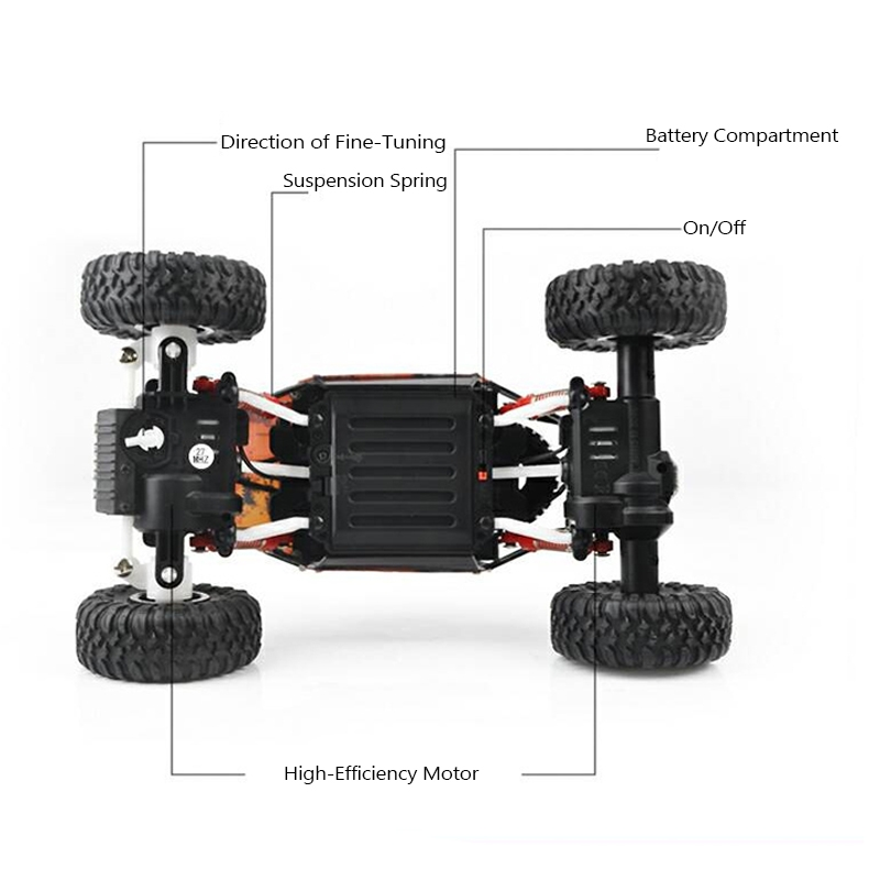 699-83 1/18  RC Car 4WD 27MHZ Rock Crawler Rally Climbing Remote Control 4x4 Off-Road Vehicle Toys
