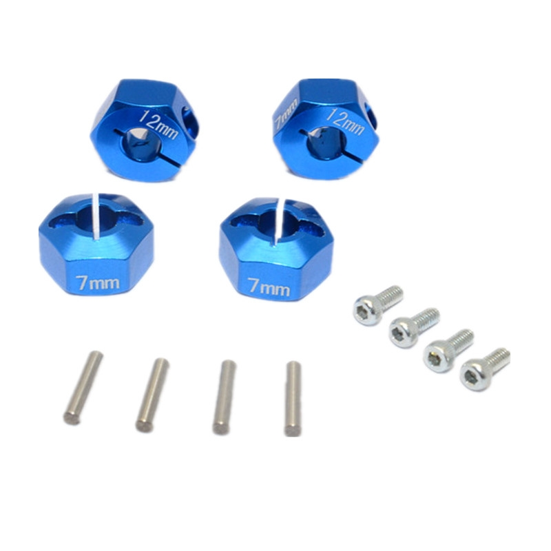 Alloy Hex Adapter 12mmx7mm 4Pcs AX010 For HPI-1/10 Venture Toyota FJ Cruiser Bulk Parts