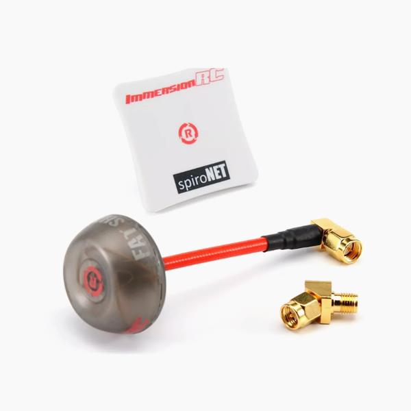 ImmersionRC SpiroNET V2 5.8GHz LHCP Diversity Bundle Omni 8dBi Patch FPV Antenna w/ 45 Degree SMA