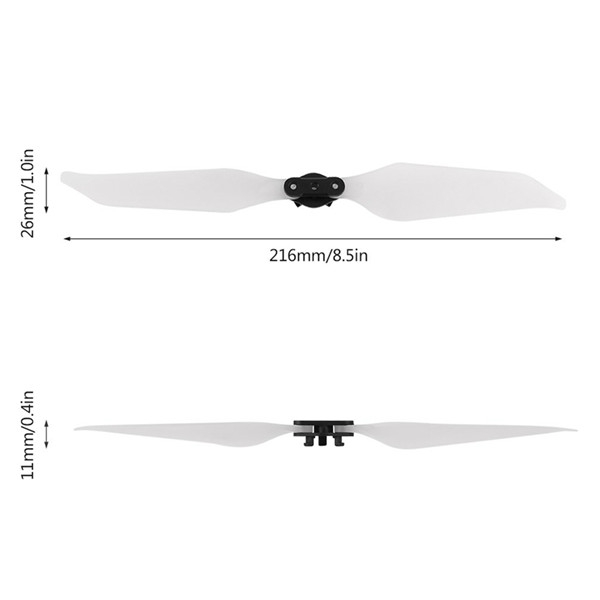 1 Pairs 8331 Quick-Release Low-Noise Propeller Luminous Blade For DJI Mavic Pro