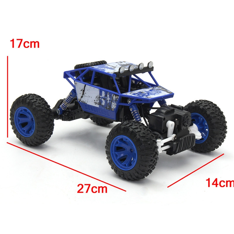 LQB801 Blue Color 1/18 2.4G 4WD RC Racing Car Bigfoot Double Motor Drive Off-Road Vehicle Buggy Toys