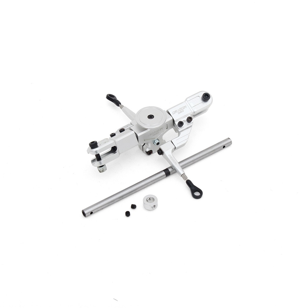 ALZRC Devil RIGID SDC DFC Main Rotor Head Set Silver For 450 465 480 Helicopter
