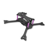 Awesome GT135 135mm Wheelbase 3mm Arm Carbon Fiber FPV Racing Frame Kit 24g