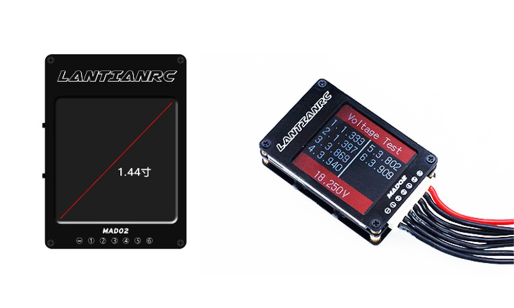 Lantian RC 2-6S Voltage Test PWM/PPM/SBUS Transmitter Receiver Signal Tester for RC Drone
