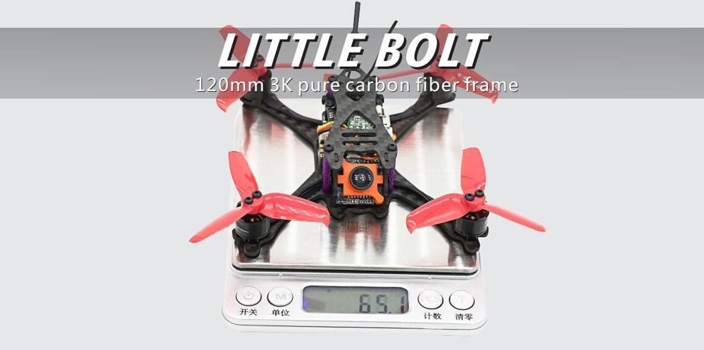 SKYSTARS Little Bolt 120mm FPV Racing Drone PNP F4 Flight Controller OSD 20A Blheli_S ESC 600TVL Cam