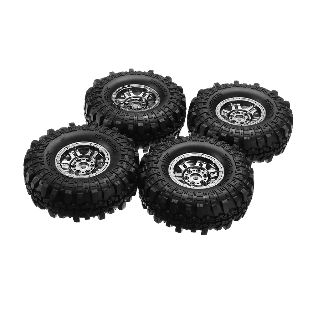 4Pcs AUSTAR AX-4020 1.9 Inch 110mm RC Car Tires With Hub For 1/10 D90 SCX10 CC01 RC Car Crawler