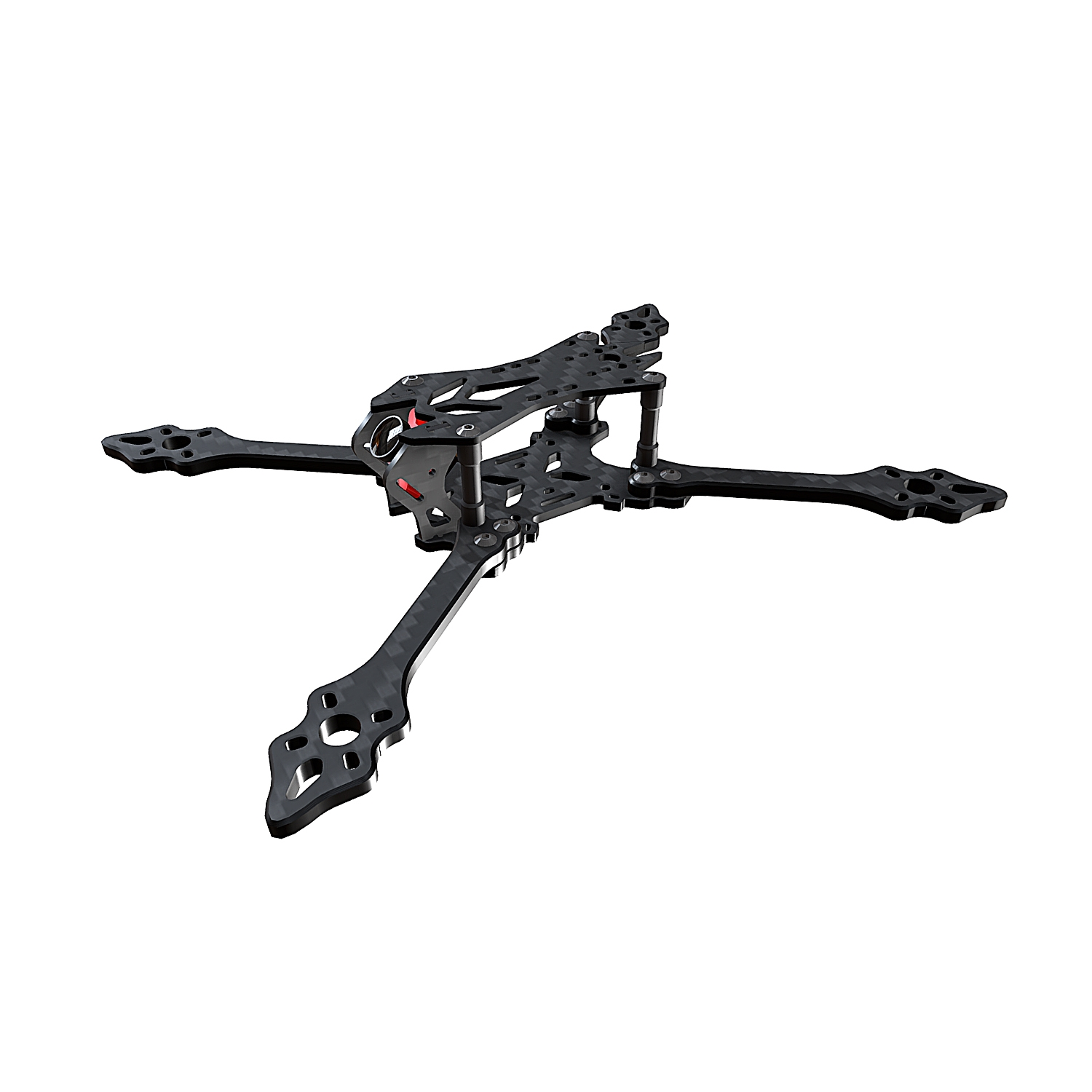 BCROW VX220PRO 220mm Strech X FPV Racing Frame 5mm Frame Arm Carbon Fiber For RC Drone