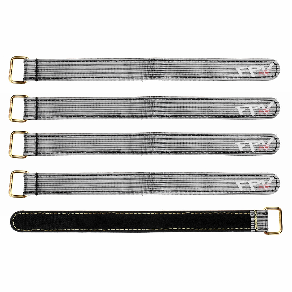 5Pcs FPV AF 230x20mm 3M Fiber Metal/Plastic Clasp Battery Straps