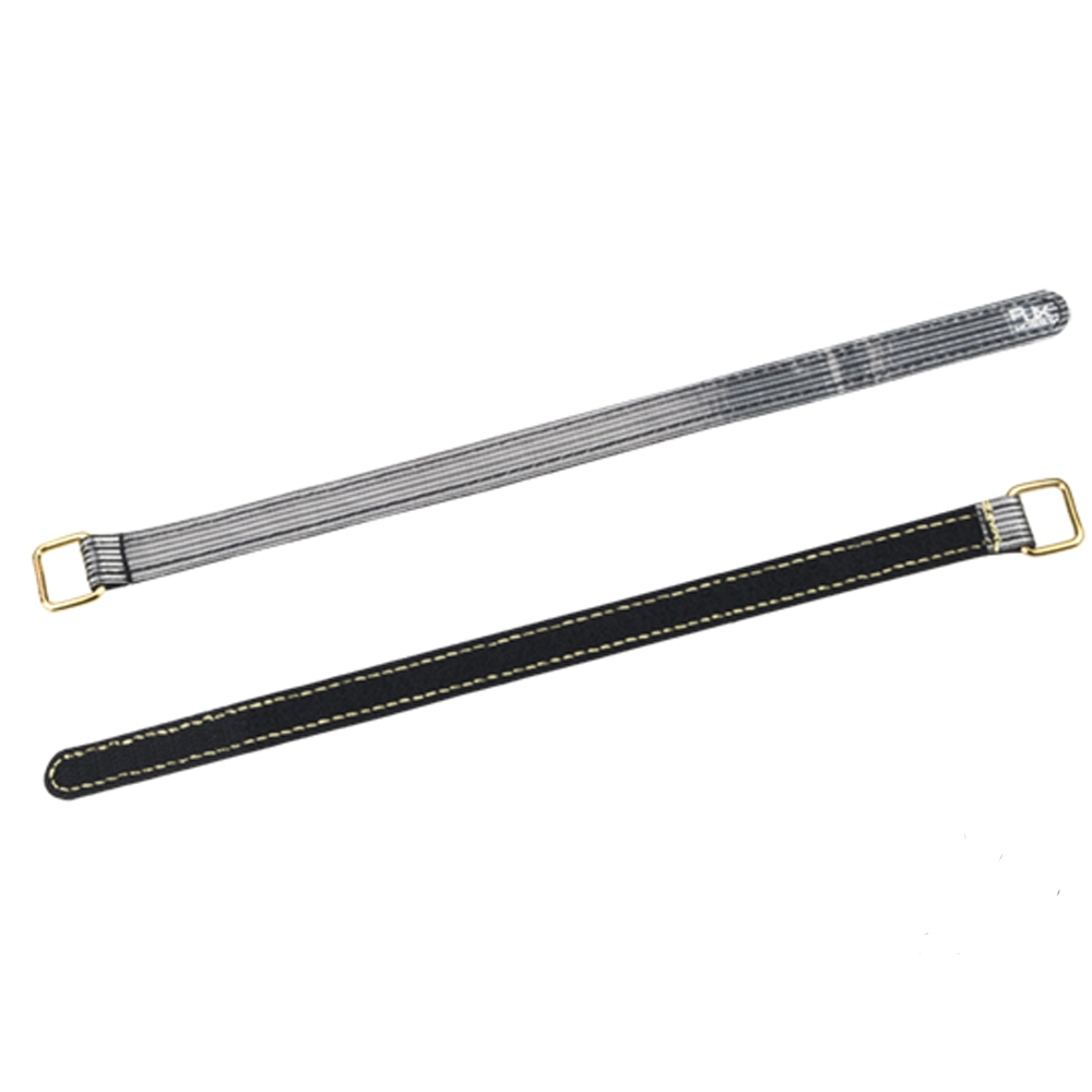 2Pcs RJX 20x450mm 3(M) Fiber Metal Clips Non slip High strength Black Battery Strap