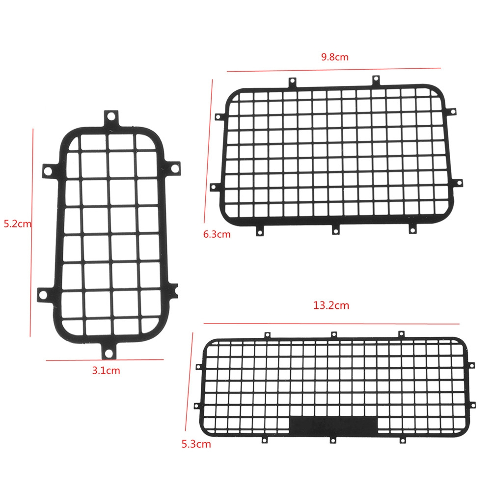 Stainless Side+Rear Window Mesh Guard For 1/10 Traxxas TRX-4 Rc Car Parts 5pcs Per Set