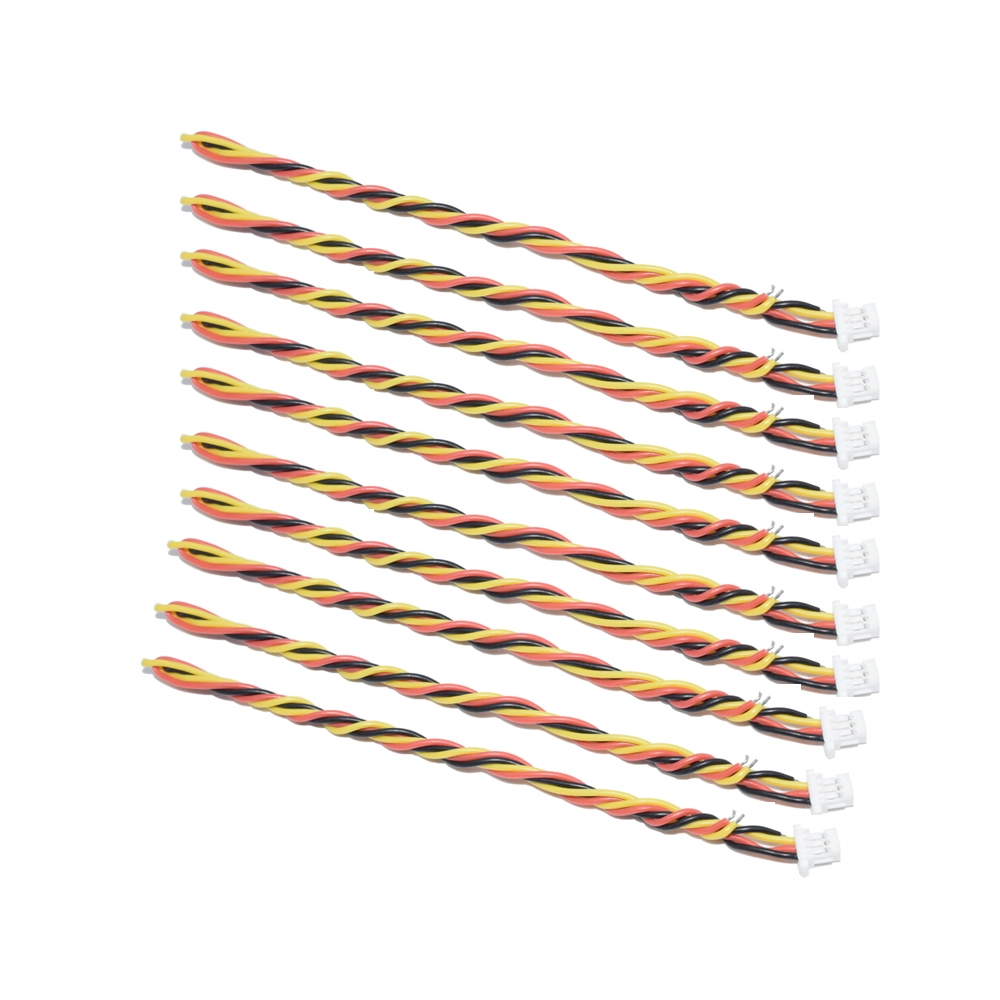 10 PCS AuroraRC 3-Pin SH1.0mm JST Plug Cable 15cm For RC Drone FPV Racing Multi Rotor