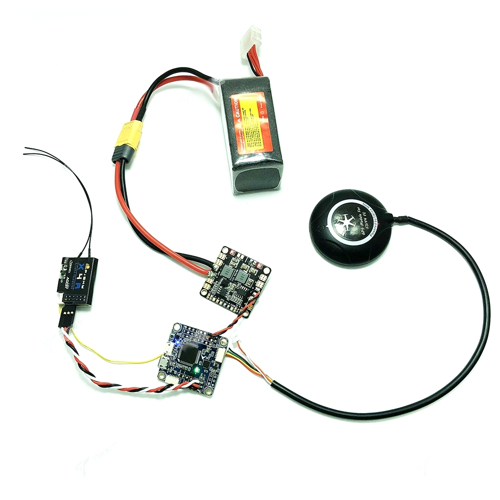 Inav F4 Deluxe 30.5x30.5mm Flight Controller Integrated with M8N GPS Compass Baro OSD for RC Drone