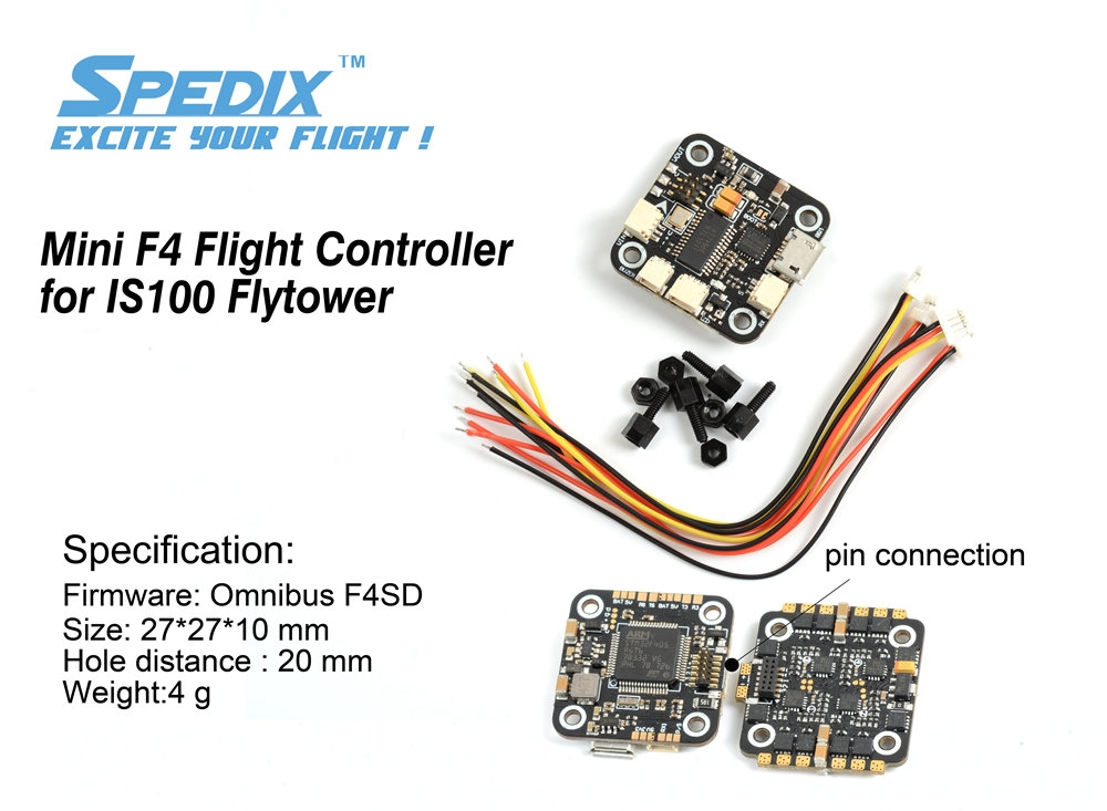 SPEDIX Mini Omnibus F4SD Flight Controller for IS100 Flytower 20x20mm