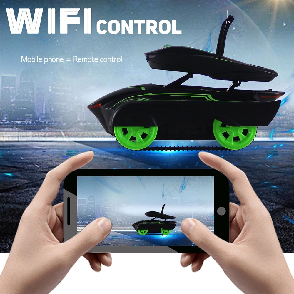 Crazon 1801 25cm Wireless AR WIFI App Control Rc Car Battle Tank With Light Toys