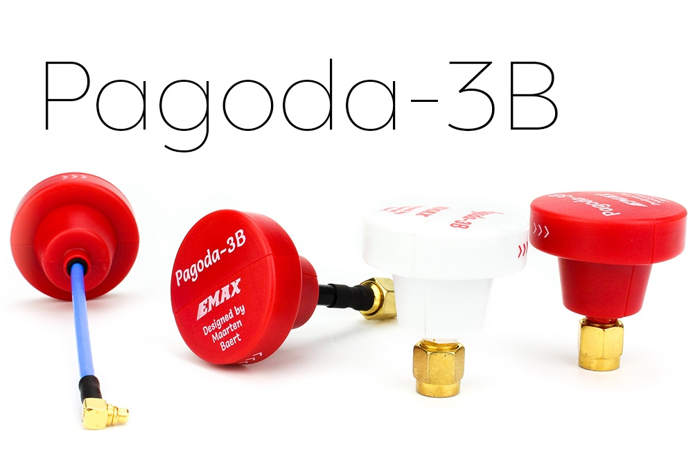 EMAX Pagoda 3B 5.8G 50mm Long RHCP W/ SMA Male by Maarten Baert FPV VTX Antenna Red