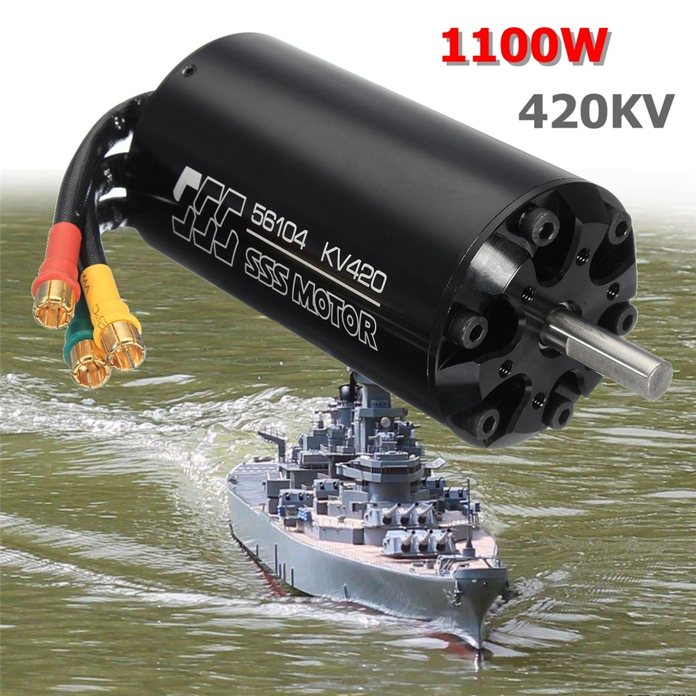 SSS 56104 / 420KV 11000W Brushless Motor 6 Pole For RC Marine Boat Electric Surfboard Parts