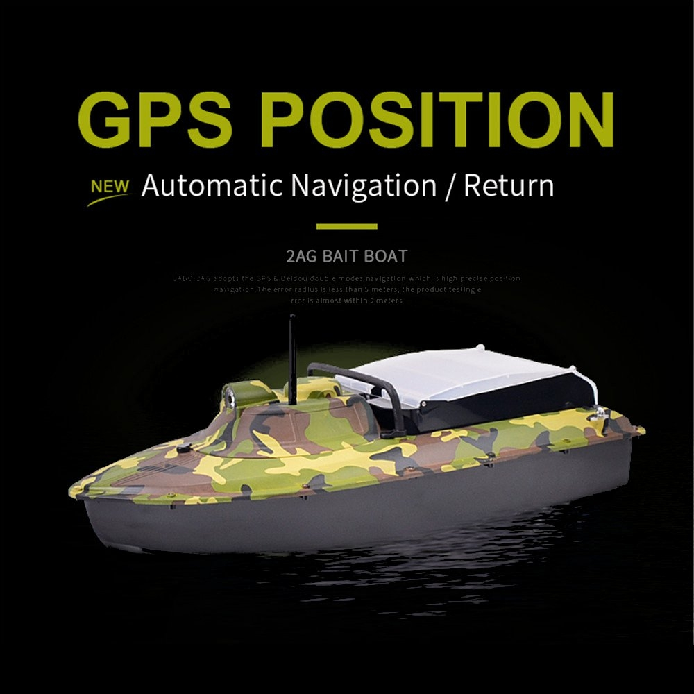 Jabo 2AG 620mm 2.4G Fishing Bait Rc Boat GPS Beidou Navlgation W/ Double 380 Motor LED Light Toy